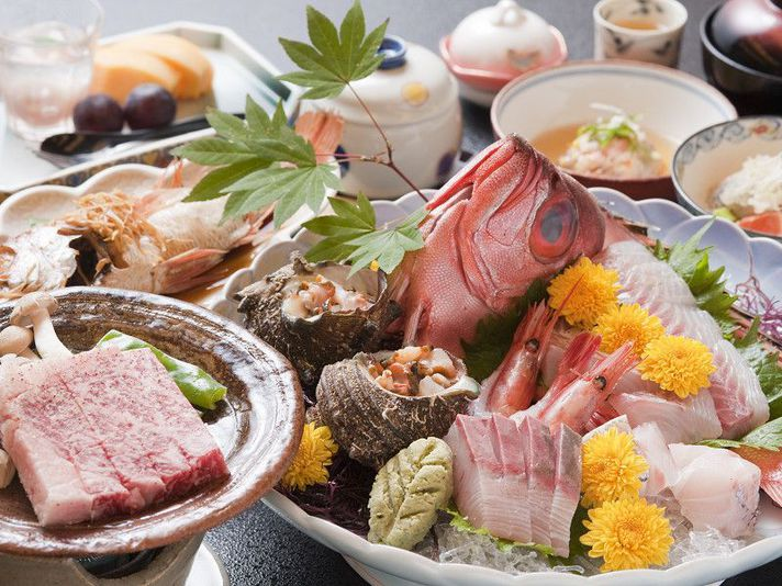 Food from the Japan sea Menu